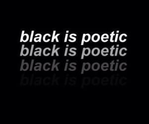 black, aesthetic, and poetic image