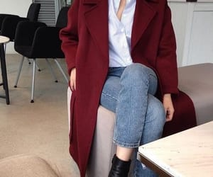 red coat and style image