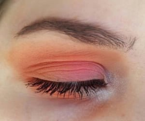 makeup, peach, and aesthetic image