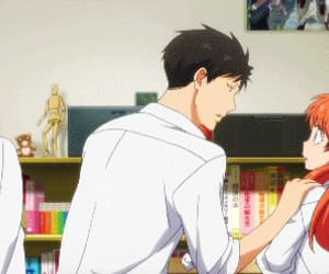 anime, gif, and gekkan shoujo nozaki-kun image