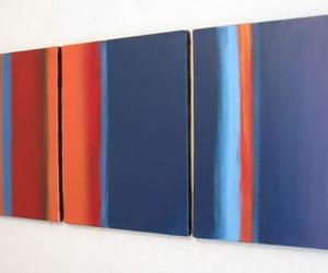 abstract, orange, and wall art image