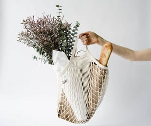bag, aesthetic, and flowers image