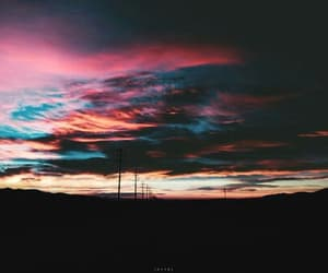 sky, dark, and sunset image