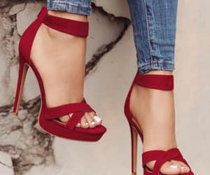 red, fashion, and heels image