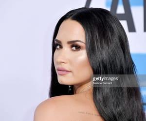 black hair, makeup, and demi image