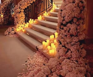 candles, roses, and stears image