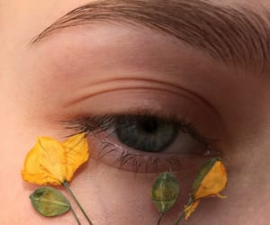 eye and flowers image