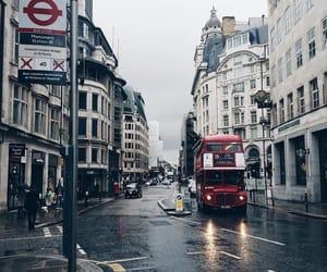 london, city, and rainy image
