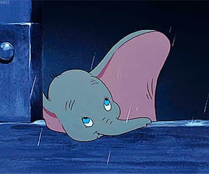 gif, disney, and dumbo image