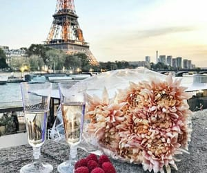 paris, champagne, and flowers image