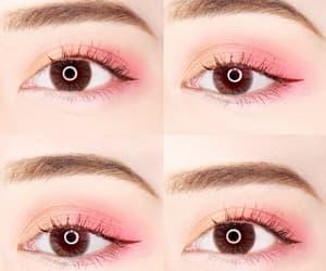 brown eyes, eye makeup, and eyeliner image
