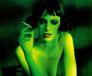 smoking and green image