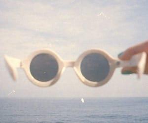 vintage, sunglasses, and beach image