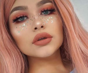 freckles, glitter, and makeup image