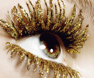 gold, eye, and eyes image