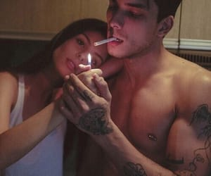 cigarettes, smoking, and lovers image