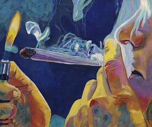smoke, weed, and art image