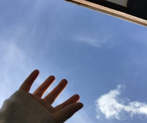 blue, cloud, and hands image