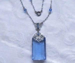 etsy, something blue, and antique necklace image