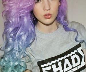 colorful hair, hair, and cabelos coloridos image