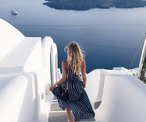 sea, travel, and Greece image