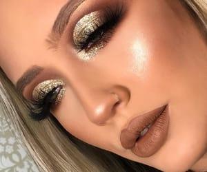 eyeshadow, fashion, and glitter image