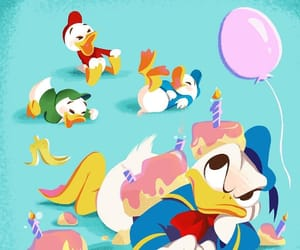 donald duck, huey duck, and hbd image