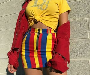 fashion, yellow, and red image
