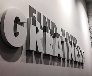 go for it, greatness, and wall quotes image