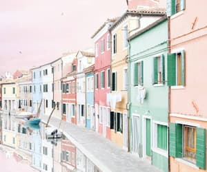 city, italy, and pink image