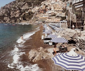 beach, holiday, and italy image