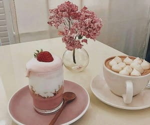pink, food, and aesthetic image