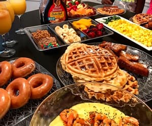 breakfast, food, and donuts image