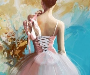 art, girl, and ballet image