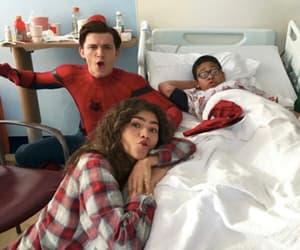 spiderman, zendaya, and tom holland image