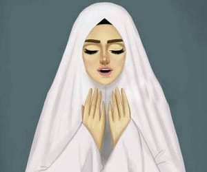 cartoonish, girly, and hijabian image