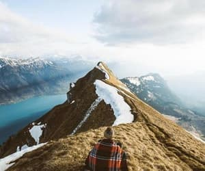 fjord, hike, and mountain image