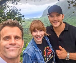 chris pratt, jurassic world, and bryce dallas howard image