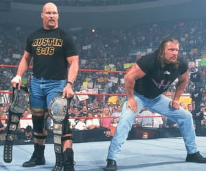 wwe, triple h, and steve austin image