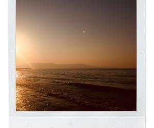 Greece, ocean, and polaroid image