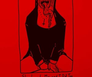 Devil, red, and nun image