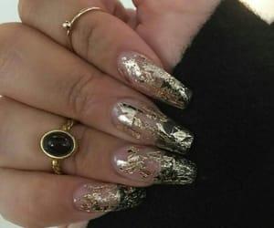 nails, gold, and rings image