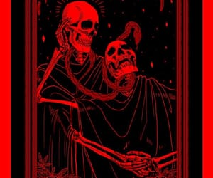 red, skeleton, and alternative image