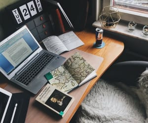 books, internship, and laptop image