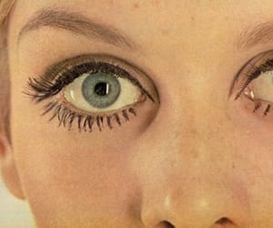 twiggy, eyes, and vintage image
