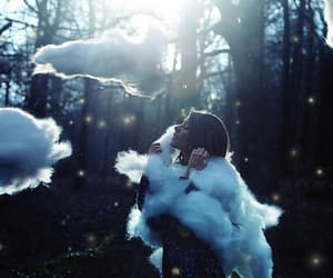 beauty, clouds, and girl image