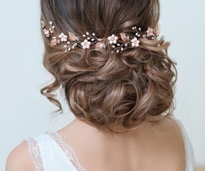 bride, bun, and hairstyle image