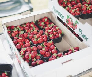 strawberry, vintage, and fruit image