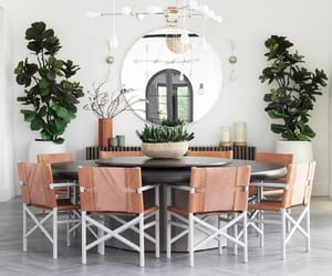 dining room, bohemian decor, and home tour image