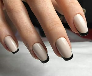black, beige, and manicure image
